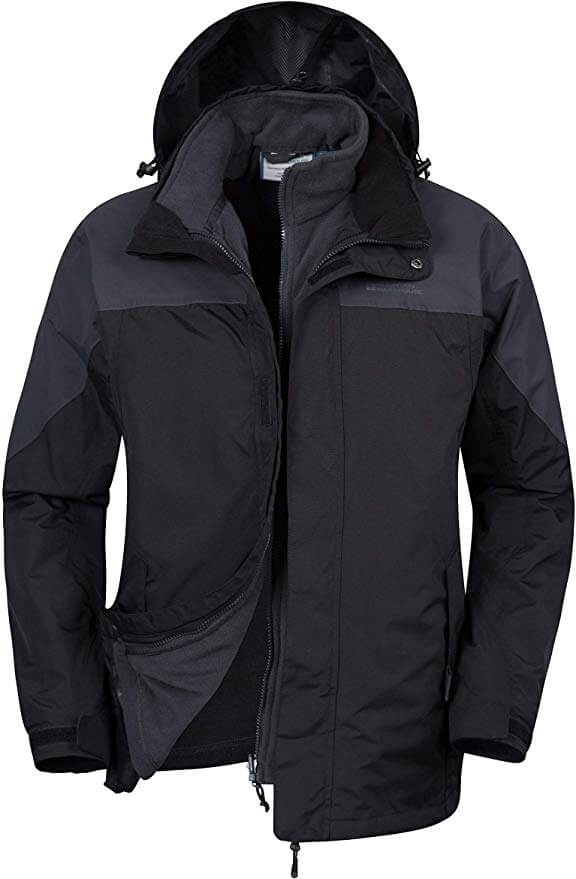 Mountain Warehouse Bracken Melange Men's 3 in 1 Waterproof Jacket